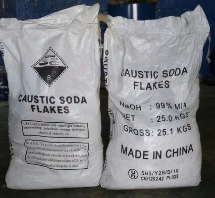 Cina GB209-2006 Sodium Hydroxide Flakes / Caustic Soda Flakes Grade Industri Distributor