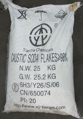 Cina CAS 1310-73-2 Sodium Hydroxide Caustic Soda / Kelas Industri Sodium Hydroxide Flakes Distributor